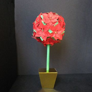 Poinsettia Tree Template